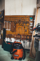 tools in a workshop