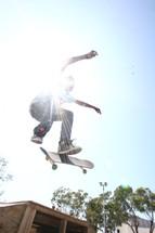 Kid riding a skateboard