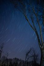 swirling stars in the night sky