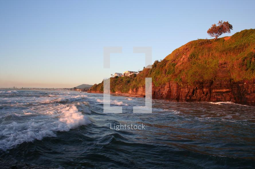 waves along a shore