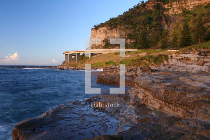 shoreline highway overlooking the ocean