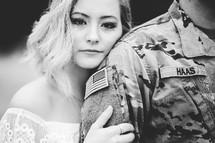 military couple portrait