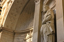 A statue of the Apostle Paul by Michelangelo in the Siena Cathedral