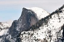 snow on a mountain peak