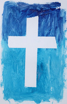 finger paint and cross