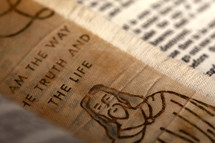 I am the way the truth and the life, picture of Jesus, bookmark
