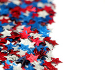 border of red, white, and blue stars