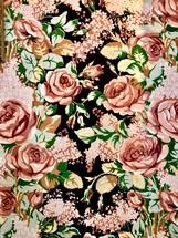 Vintage cloth floral pattern for design or texture.