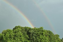 rainbow in a gray sky