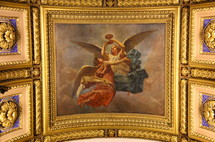painting of angels on a ceiling