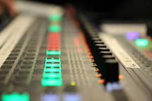 controls on a sound board