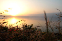 Sunset on the Sea of Galilee in Israel