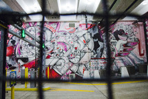street art in a parking garage