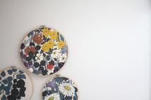 framed floral patterns