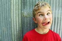 boy making a silly face