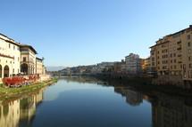 The Arno River as seen from the Ponte Vecchio Bridge