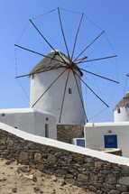 Greek windmill used for grinding wheat