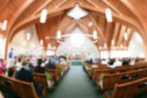 Church Service Blurred