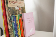 A library for a new princess. Bible verses to Bless your Baby Girl.