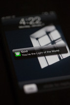 Text message from God - You're the Light of the World