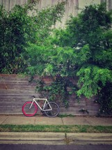 A parked bike.