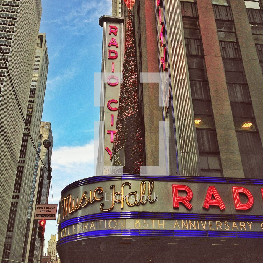 Radio City Music Hall Marquee sign