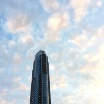 Top of a skyscraper.