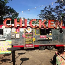 A Chicken food truck street vender