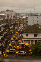 city, roof tops, Liberia, Africa, street, taxi, cabs