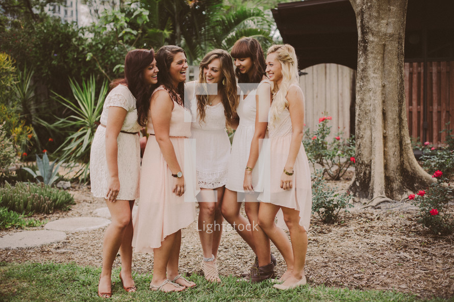 bridesmaids posing for a picture