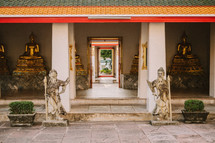 Entrance to a Hindu Temple in Thailand.