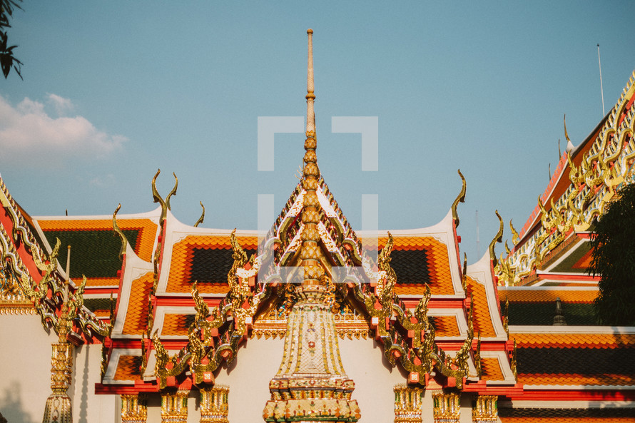 An ornate roof in Thailand.