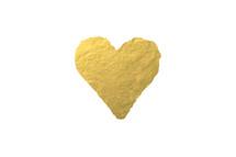 gold foil heart