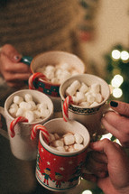 hot cocoa and candy canes