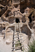 ladder to a cave