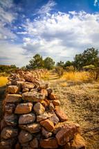 rustic rock wall