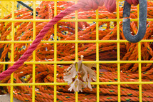 rope and cage, fishing gear