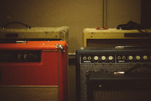 amplifiers in a Recording Studio