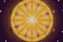 angels painted in a dome
