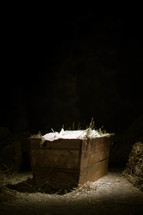 The manger where Jesus was born