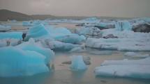 floating ice chunks