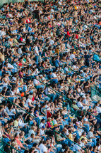 Crowded stadium Christ crusade sports people