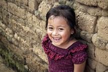 smiling face of a little girl