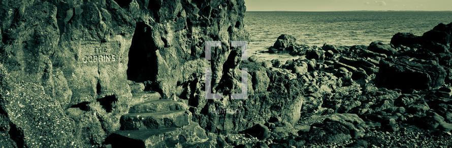 rock shoreline
