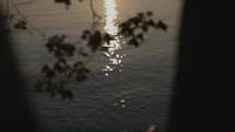 sunlight reflecting on water