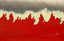 red paint abstract art