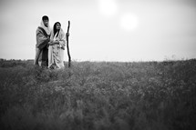 Pregnant couple in the wilderness - mary and Jospeh