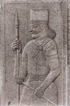 antique warrior engraving