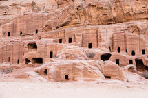 homes carved into cliffs