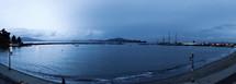 Marina panoramic beach shore